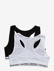 Calvin Klein - 2PK BRALETTE - tops - white/black - 1