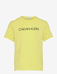 Calvin Klein - INSTITUTIONAL SS T-SHIRT - t-shirts - yellow lime - 0