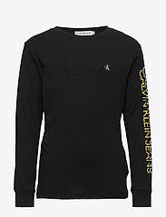 Calvin Klein - REPEAT LOGO LS T-SHIRT - lange mouwen - ck black - 0