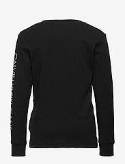 Calvin Klein - REPEAT LOGO LS T-SHIRT - lange mouwen - ck black - 1
