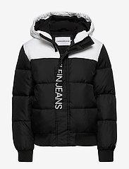 Calvin Klein - COLOUR BLOCK PUFFER JACKET - gewatteerde jassen - ck black - 0