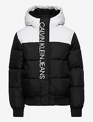 Calvin Klein - COLOUR BLOCK PUFFER JACKET - gewatteerde jassen - ck black - 1
