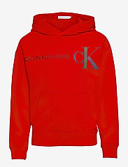 Calvin Klein - REFLECTIVE LOGO HOODIE - hoodies - fierce red - 0