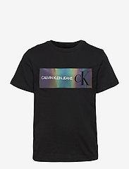 Calvin Klein - REFLECTIVE LOGO T-SHIRT - t-shirts - ck black - 0