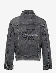 Calvin Klein - TRUCKER JACKET MN DARK W GR STR - jeansjacken - monogram dark wash grey stretch - 1