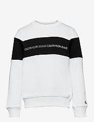 Calvin Klein - COLOUR BLOCK LOGO SWEATSHIRT - sweatshirts - bright white - 0