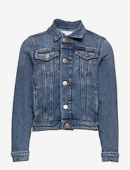Calvin Klein - GIRLS TRUCKER - MNGR POWD CMF - jeansjacken - monogram powdery comfort - 0