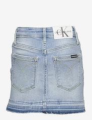Calvin Klein - SKIRT LUSTER BL DST - spódnice - luster blue destructed stretch - 1