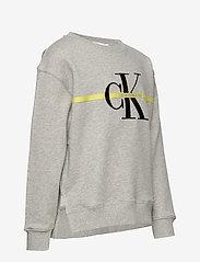 Calvin Klein - MONOGRAM STRIPE SWEATSHIRT - sweatshirts - light grey heather - 2