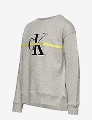 Calvin Klein - MONOGRAM STRIPE SWEATSHIRT - sweatshirts - light grey heather - 3