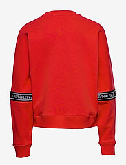 Calvin Klein - LOGO TAPE SWEATSHIRT - sweatshirts - fierce red - 1