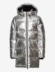 Calvin Klein - SILVER PUFFER LONG COAT - dunjakker & forede jakker - silver metallic - 1