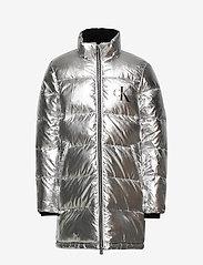 Calvin Klein - SILVER PUFFER LONG COAT - dunjakker & forede jakker - silver metallic - 2