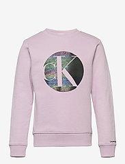 Calvin Klein - CIRCLE MONOGRAM SWEATSHIRT - sweatshirts - lavender pink - 0