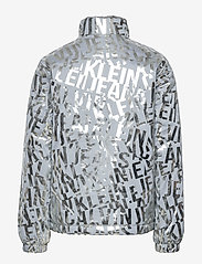 Calvin Klein - LOGO METALLIC JACKET - bomberjacks - silver foil  aop - 1