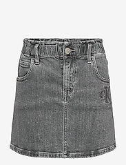 Calvin Klein - ELAS ALINE SKIRT AUT LGT G ST - röcke - authentic light grey stretch - 0