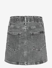 Calvin Klein - ELAS ALINE SKIRT AUT LGT G ST - röcke - authentic light grey stretch - 1
