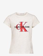 Calvin Klein - OVERLAPPING MONOGRAM T-SHIRT - t-shirts - bright white - 0
