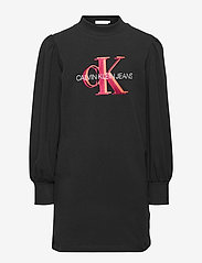 Calvin Klein - OVERLAPPING MONOGRAM DRESS - kleider - ck black - 0