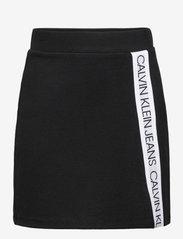 Calvin Klein - LOGO TAPE PUNTO SKIRT - röcke - ck black - 0