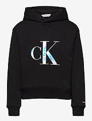 Calvin Klein - MONOGRAM APPLIQUE HOODIE - hoodies - ck black - 0