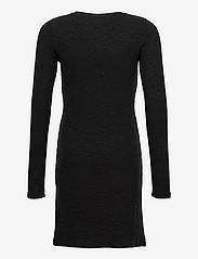 Calvin Klein - FANTASY RIB LS KNIT DRESS - kleider - ck black - 1