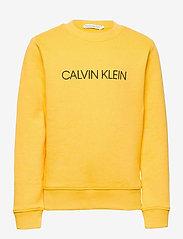 Calvin Klein - INSTITUTIONAL SWEATSHIRT - sweatshirts - warm yellow - 0