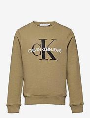 Calvin Klein - MONOGRAM LOGO SWEATSHIRT - sweatshirts - olive khaki - 0