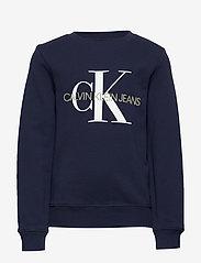 Calvin Klein - MONOGRAM LOGO SWEATSHIRT - sweatshirts - peacoat - 0