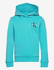 Calvin Klein - SMALL MONOGRAM HOODIE - kapuzenpullover - bright sky - 0