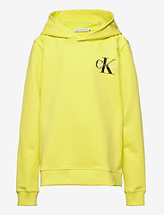 Calvin Klein - SMALL MONOGRAM HOODIE - kapuzenpullover - yellow lime - 0