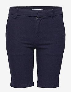 SLIM STRETCH CANVAS - shorts - peacoat