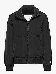LOGO BOMBER JACKET - CK BLACK