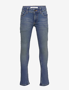 SKINNY - DUSK MID BL - jeans - dusk mid blue stretch