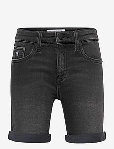 SLIM SHORT - ATH BLACK STR - shorts - athletic black stretch