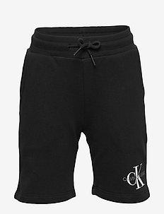 MONOGRAM SWEATSHORT - shorts - ck black