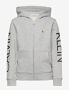 HERO LOGO ZIP HOODIE - hoodies - light grey heather