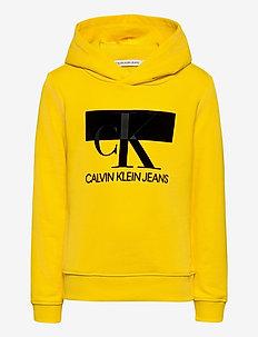 MONOGRAM BLOCK HOODIE - hoodies - bold yellow