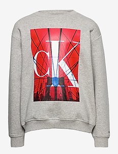 MONOGRAM CITY PRINT SWEATSHIRT - sweatshirts - light grey heather