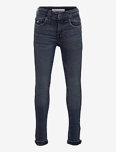 SUPER SKINNY DARK BLUE BLK STR - jeans - dark blue black stretch
