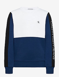 COLOUR BLOCK LOGO SWEATSHIRT - sweatshirts - naval blue