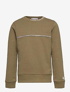 LOGO PIPING SWEATSHIRT - sweatshirts - olive khaki