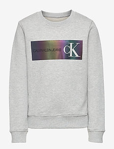 REFLECTIVE LOGO SWEATSHIRT - sweatshirts - light grey heather