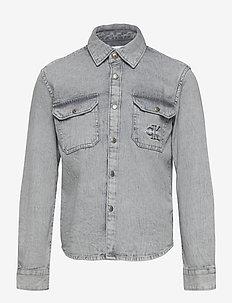 CLOUD WASHED SHIRT - shirts - asphalt grey
