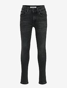 SUPER SKINNY MONOGRAM BLK STR - jeans - monogram black stretch