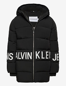 STRETCH LOGO PUFFER JACKET - puffer & padded - ck black