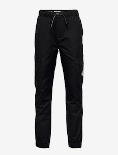 FUNCTIONAL POCKET PANTS - trousers - ck black