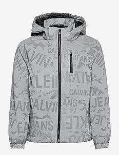 REFLECTIVE LOGO JACKET - light jackets - grey reflective aop