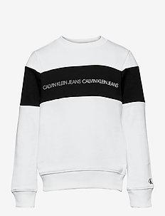 COLOUR BLOCK LOGO SWEATSHIRT - sweatshirts - bright white