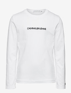 SMALL INSTITUTIONAL LS T-SHIRT - langärmelige - bright white
